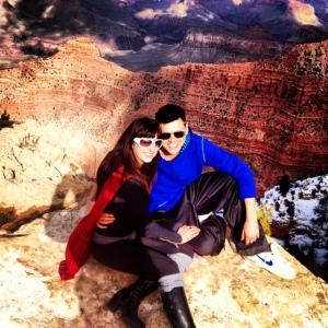 Auriel and her husband Ryan at the Grand Canyon.
